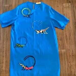 Emilio Pucci blue beaded shift dress